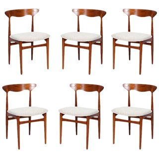 Set of 6 Christian Linneberg Dining Chairs For Sale