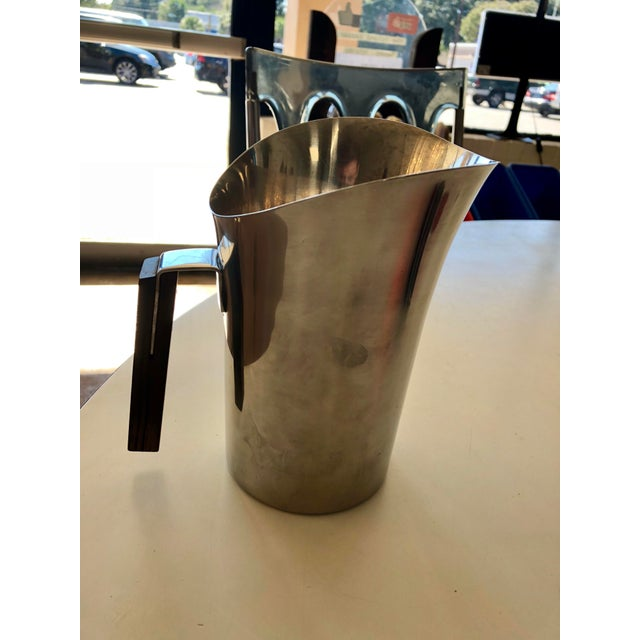 Vintage Mid-Century Danish Lundtofte Stainless Steel Pitcher For Sale In Charleston - Image 6 of 6