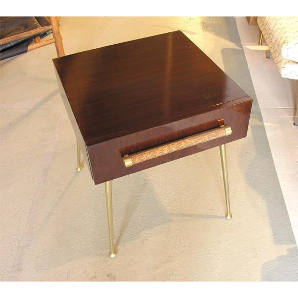 1950s Glove Box Nightstands by T.H. Robsjohn-Gibbings for Widdicomb For Sale - Image 5 of 8