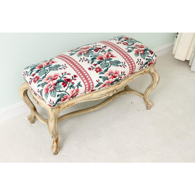 French Mid 19th Century Antique French Louis XV Style Bench For Sale - Image 3 of 5