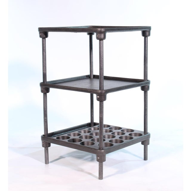 "Industrial Cast Iron ""Muffin"" Side Table For Sale - Image 3 of 13"