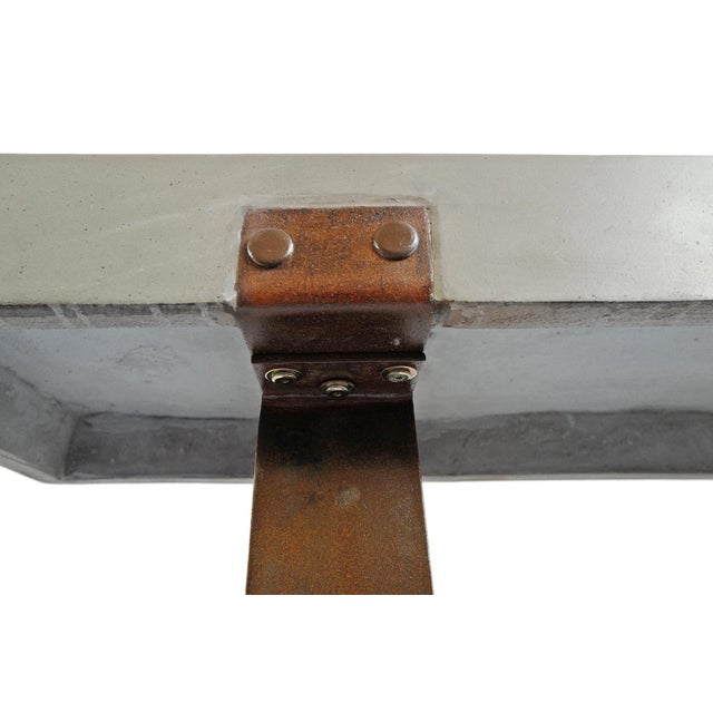 Outdoor Cement & Iron Console For Sale In Los Angeles - Image 6 of 9