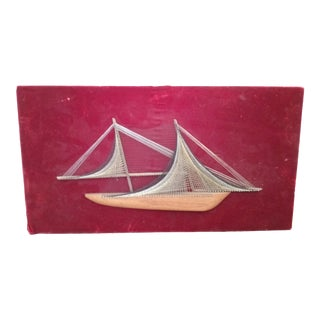 1970s Mid Century 3D Sailboat Wall Art For Sale