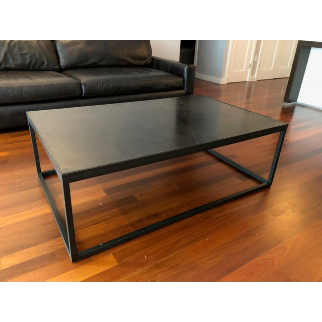 Restoration Hardware Metal Parquet Coffee Table For Sale In New York - Image 6 of 6