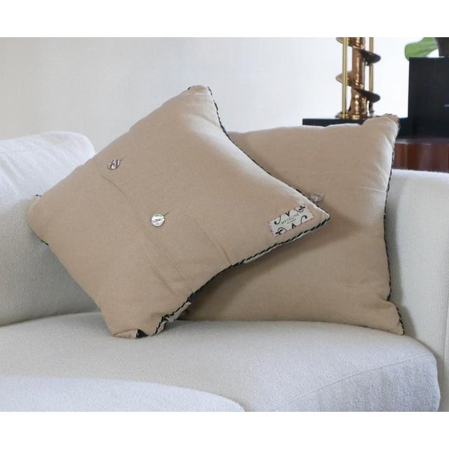 Traditional Textile Designed Pillows For Sale - Image 3 of 6