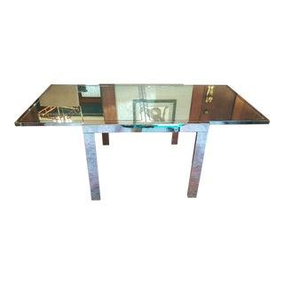 Milo Baughman Contemporary Extendable Table
