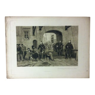 """Antique Photogravure on Paper, """"Distributing Food to the Poor in Paris"""" from D. Appleton & Co - Circa 1860 For Sale"""