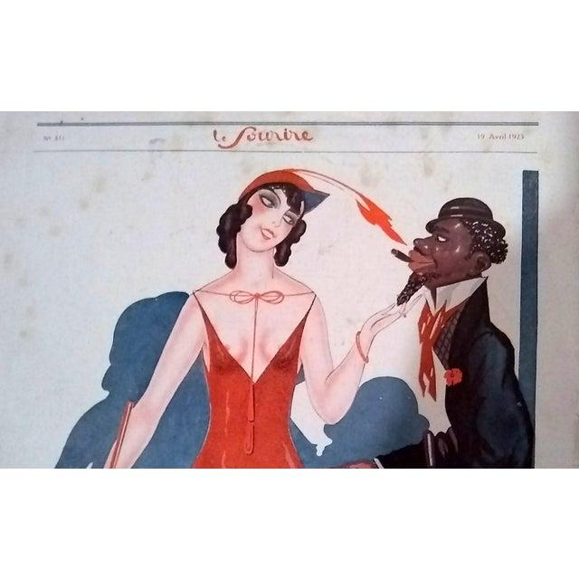 """Sacha Zaliouk 1923 """"Le Blanc Et Le Noir"""" Le Sourire Print - Image 2 of 6"""