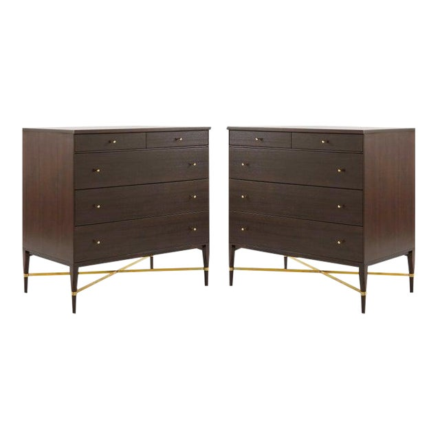 Pair of Bedside Mahogany Chests by Paul McCobb, Calvin Group, 1950s For Sale