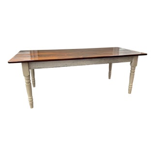 Farm Table Made With Original Barn Flooring For Sale