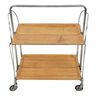 1960s Mid-Century Modern Folding Tea Cart For Sale