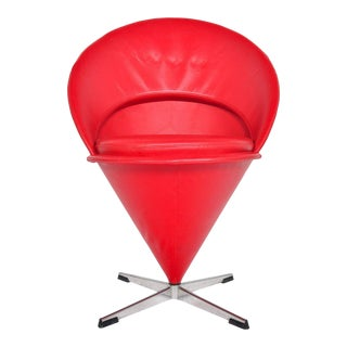 Verner Panton Cone Chair – Red For Sale