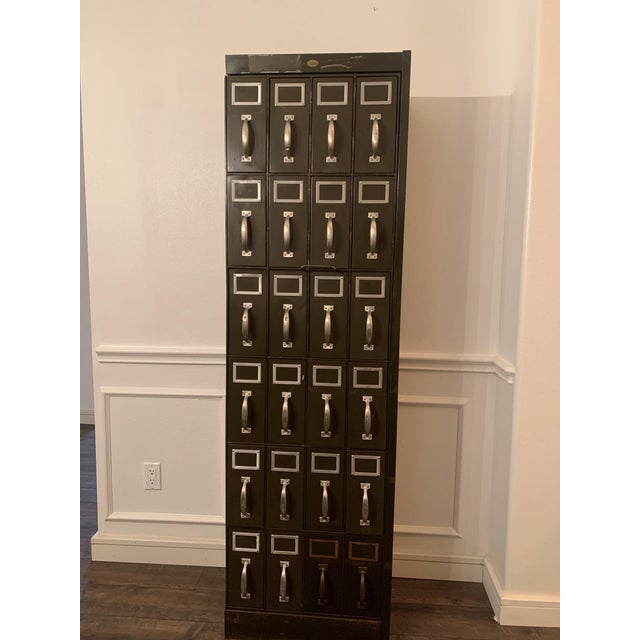 Mid 20th Century Vintage Industrial Filing Cabinet 24 Drawer For Sale - Image 11 of 12