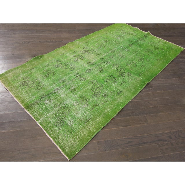 """Vintage Overdyed Rug, 3'10"""" X 6'9"""" For Sale - Image 4 of 5"""