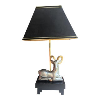 Vintage Frederick Cooper Ibex Lamp With Asian Finial For Sale