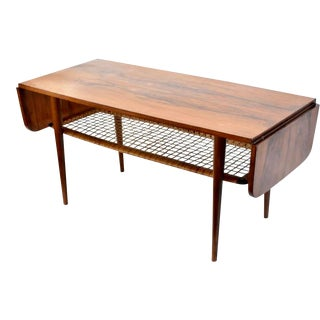 Danish Rosewood Double Leaf Coffee Table For Sale