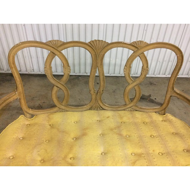 French Country Vintage Loop Back Bench For Sale - Image 3 of 7