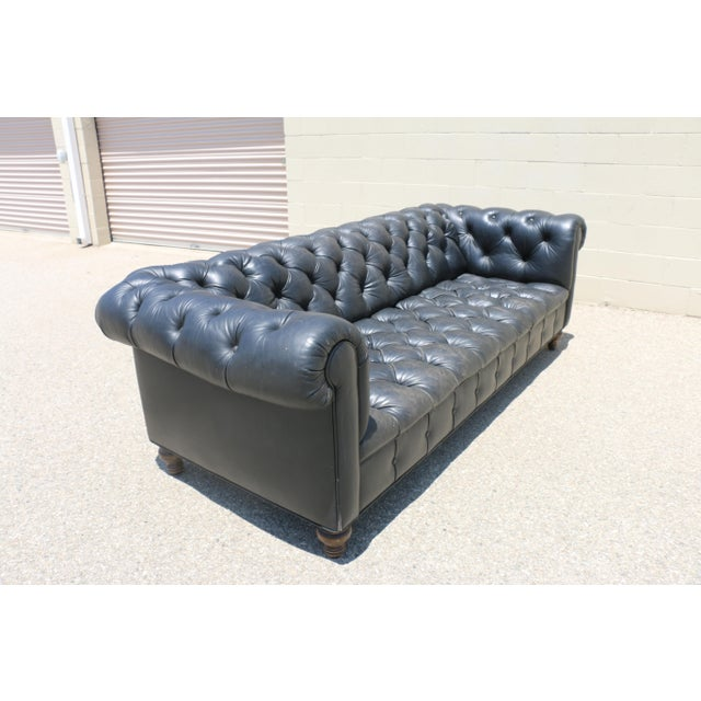 Black Tufted Chesterfield Sofa - Image 9 of 11