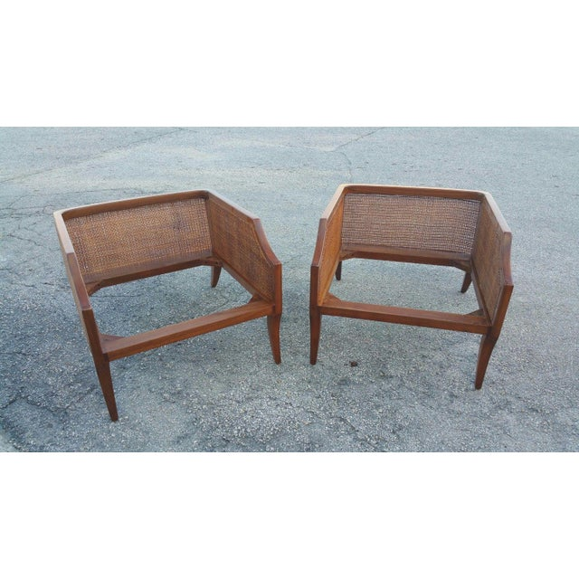 1950s Danish Modern Teak Saber Leg Low Slung Lounge Chairs - a Pair For Sale - Image 10 of 11