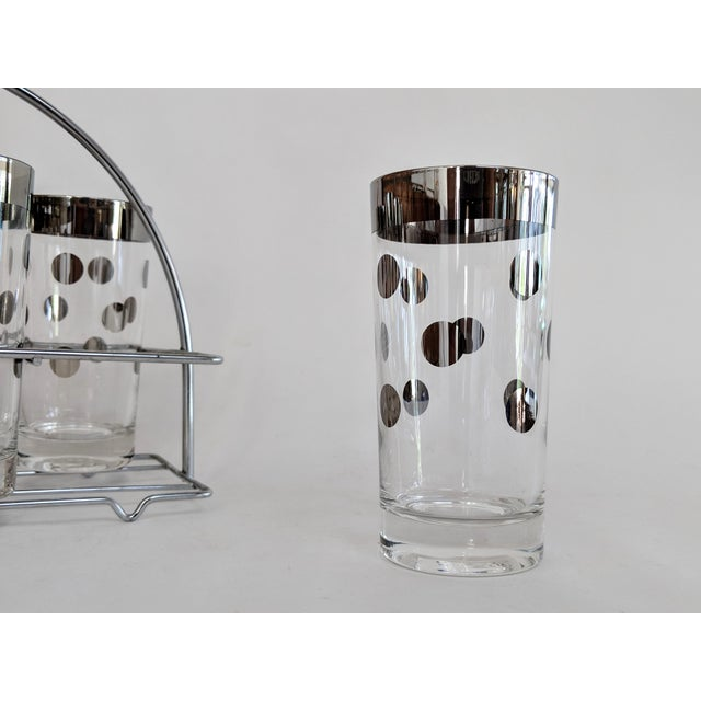 Dorothy Thorpe Polka Dot Glasses With Holder - Set of 8 - Image 5 of 11