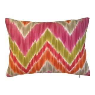 Chevron Designer Fabric Pillow For Sale
