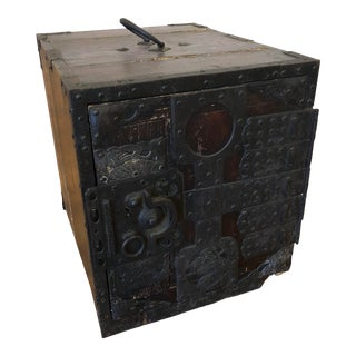 Antique Japanese Kakesuzuri Tansu Chest, Box, Edo Period Ships Chest For Sale