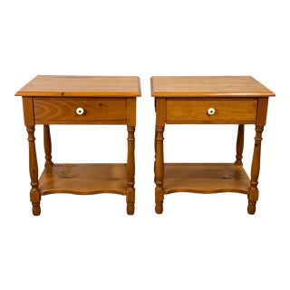 Vintage House of Brougham Rustic Pine Nightstands - a Pair For Sale