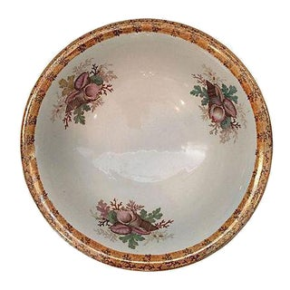 Antique 1890s Luster Shell & Coral Center Bowl