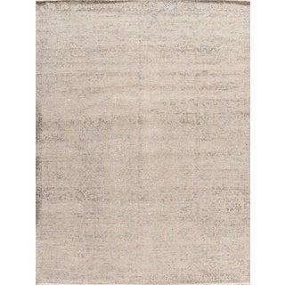 "Apadana - Contemporary Abstract Gray Indian Carpet, 9' x 12'2"""