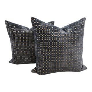 "Aerin Collection for Lee Jofa Custom Silk Velvet 22"" Pillows - a Pair For Sale"