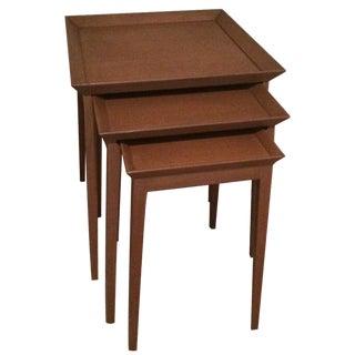 T.H. Robsjohn Gibbings Widdicomb Tables - Set of 3 For Sale