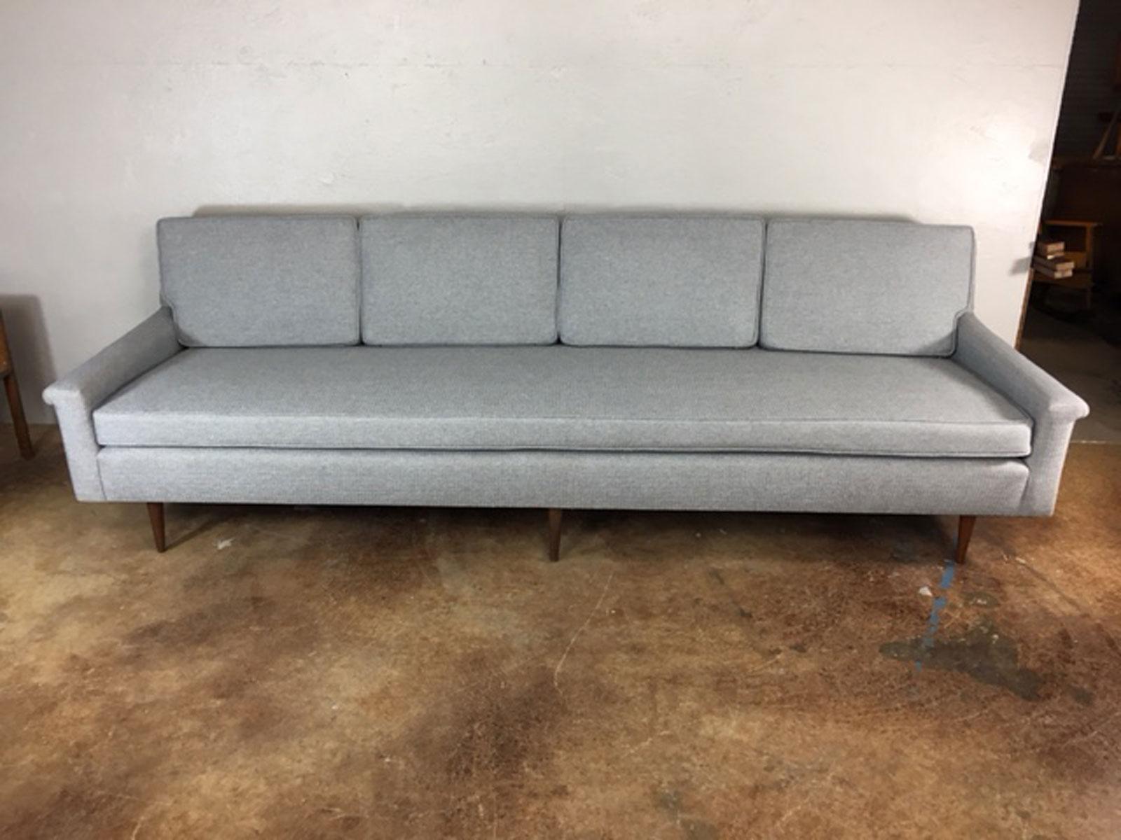 Gray Edward Wormley Extra Long Sofa   Image 2 Of 11