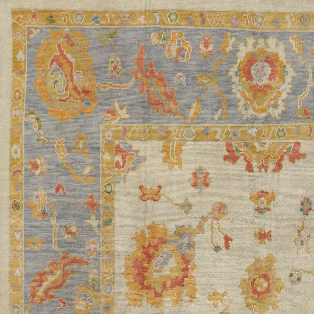Contemporary Turkish Pastel Oushak Rug - 9′3″ × 12′3″ For Sale - Image 5 of 7