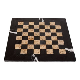 Black Marble & Tessellated Stone Chess / Checkers Board For Sale