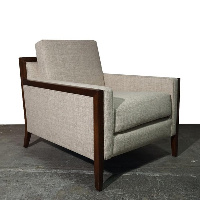 White Mid Century Modern Lounge Chair For Sale - Image 8 of 8