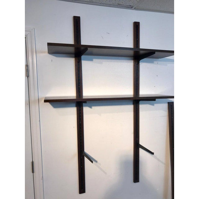 Metal Danish Modern Rosewood Adjustable Shelves For Sale - Image 7 of 12