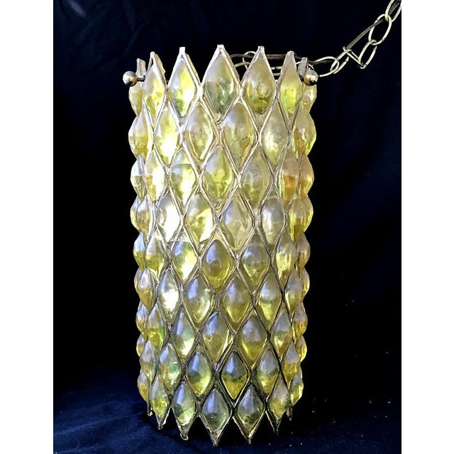 Mid-Century Modern Swag Cylinder Hanging Lamp - Image 2 of 6