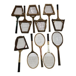 Vintage American Wood Tennis Racquets - Great for Wall Decor For Sale