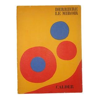 Vintage Mid 20th Century Lithograph From Derriere Le Miroir No. 201-1973-Alexander Calder For Sale