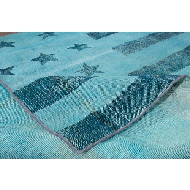 "Contemporary Apadana Over-Dyed Rug, 6'2"" X 9'2"" For Sale - Image 3 of 4"