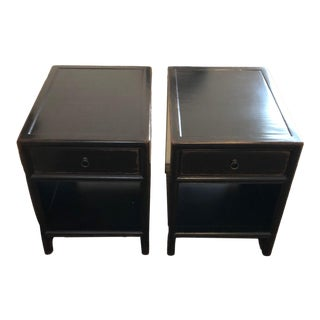Ethan Allen Dynasty Black End Tables - a Pair For Sale