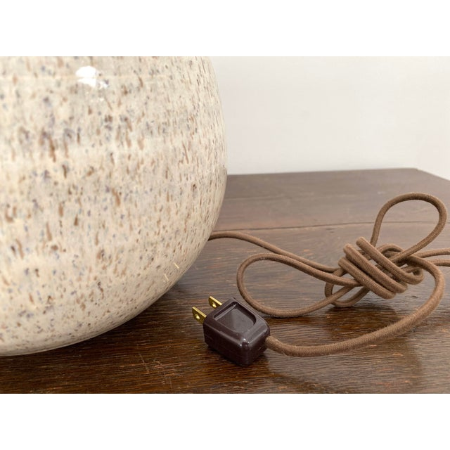 Organic Modern Handmade Ceramic Table Lamps - a Pair For Sale In San Francisco - Image 6 of 11