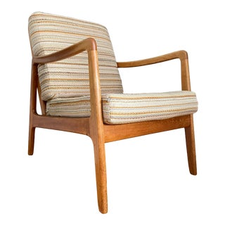 Early Ole Wanscher Lounge Chair for France & Daverkosen W/Original Maria Kipp Upholstery For Sale