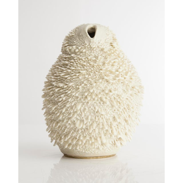 Unique, hand-thrown Vagina Owl Accretion vase - Image 4 of 4