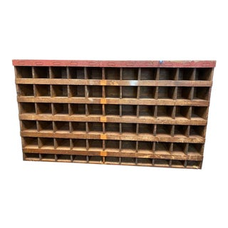 Rustic Shop Cabinet/Cubby Storage/Wine Rack For Sale