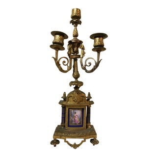 Servers Bronze Four-Light Candelabra, 19th Century For Sale