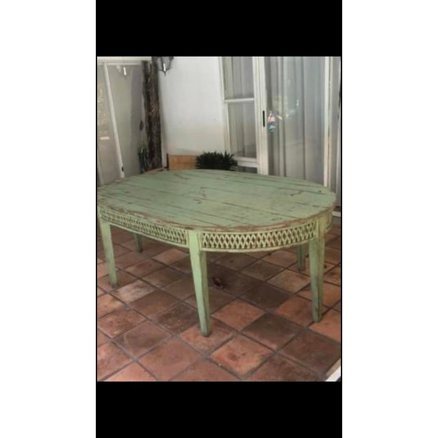 Farmhouse Vintage Farmhouse Dining Table For Sale - Image 3 of 10