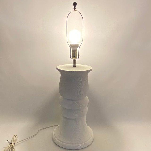 Monumental 1989 Bon Art Faux Bois Plaster Lamp For Sale - Image 12 of 13