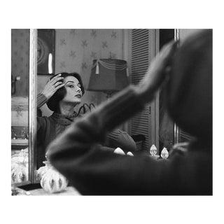 Audrey Hepburn at Her Dressing Room Mirror 1957 For Sale