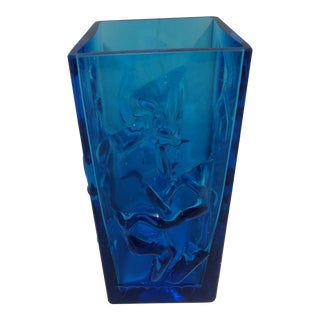 Mid-century John Käll Eneryda Glasbruk Sweden Crystal Vase For Sale